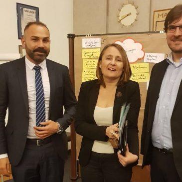 Treffen mit der Bürgermeisterin Bettina Stöhr