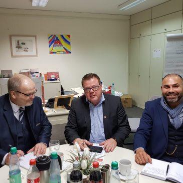 Treffen mit Thomas Gelder von der IG Metall Leer-Papenburg
