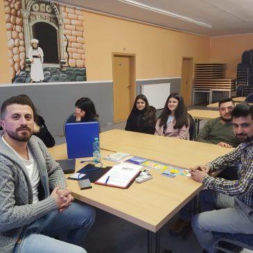 Sitzung des Jugendkomitee zum Thema Ahnenforschung